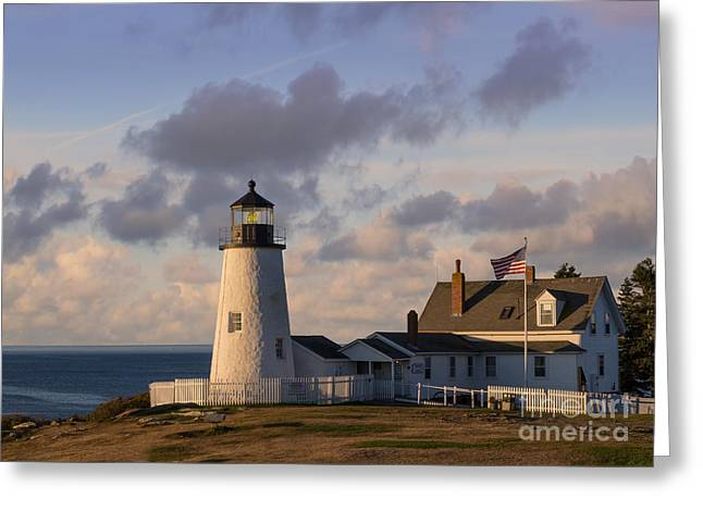New England Ocean Greeting Cards - Pemaquid Morning Greeting Card by Jerry Fornarotto