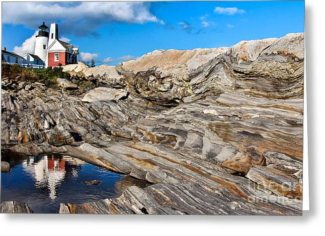 Recently Sold -  - Coastal Maine Greeting Cards - Pemaquid Point  Greeting Card by Karin Pinkham