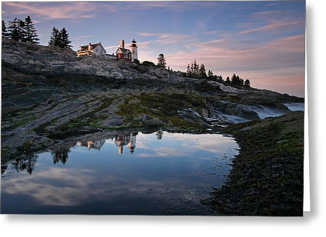 Coastal Maine Greeting Cards - Pemaquid Point Light Greeting Card by Juergen Roth