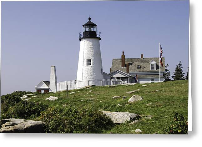 Old Maine Houses Greeting Cards - Pemaquid Point Lighthouse Greeting Card by Phyllis Taylor