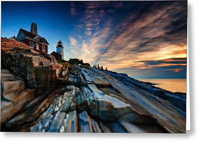 Pemaquid Sunrise Greeting Card by Rick Berk