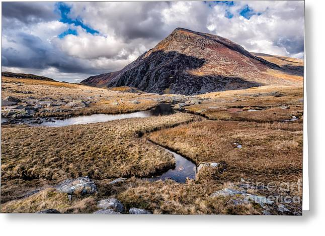 Brook Digital Art Greeting Cards - Pen yr Ole Wen Mountain Greeting Card by Adrian Evans