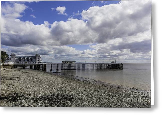 Iron Greeting Cards - Penarth Pier 10 Greeting Card by Steve Purnell