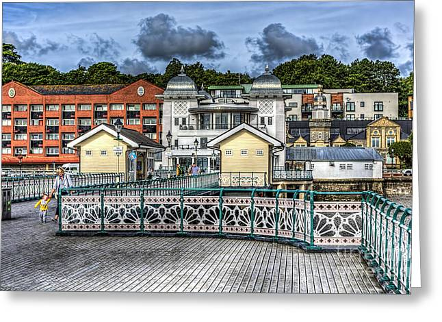 Wooden Building Greeting Cards - Penarth Pier View Greeting Card by Steve Purnell