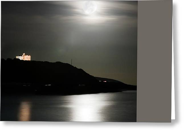 Pendennis Castle At Night Greeting Card by Terri Waters