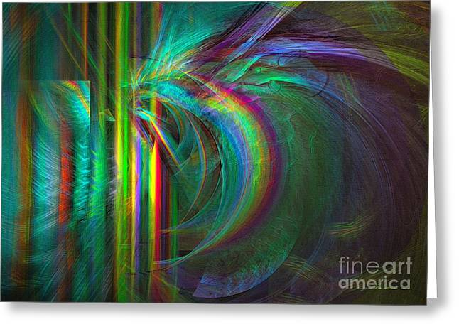 Abstract Digital Digital Greeting Cards - Penetrated by life - Abstract art Greeting Card by Sipo Liimatainen