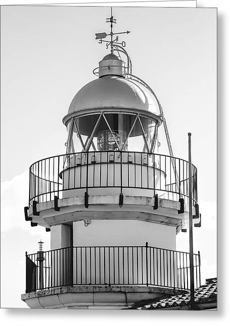 Peniscola Lighthouse Of Spain Greeting Card by Daniel Hagerman