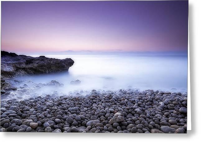 Peniscola Sunrise Greeting Card by Hernan Bua