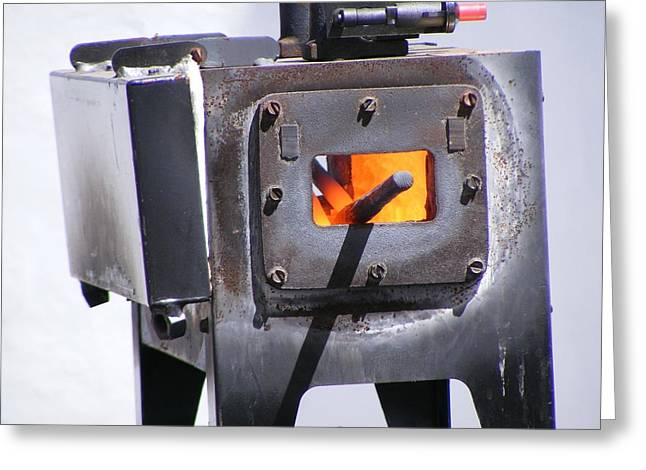 Famous Photographer Greeting Cards - Penland Blacksmithing Forge Greeting Card by Zen BadKitty