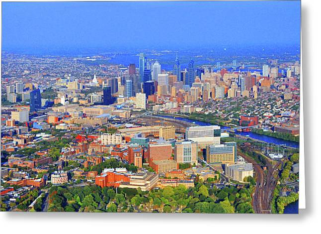 Phillies. Philadelphia Photographs Greeting Cards - Penn HUP Chop Philadelphia 0541 Greeting Card by Duncan Pearson