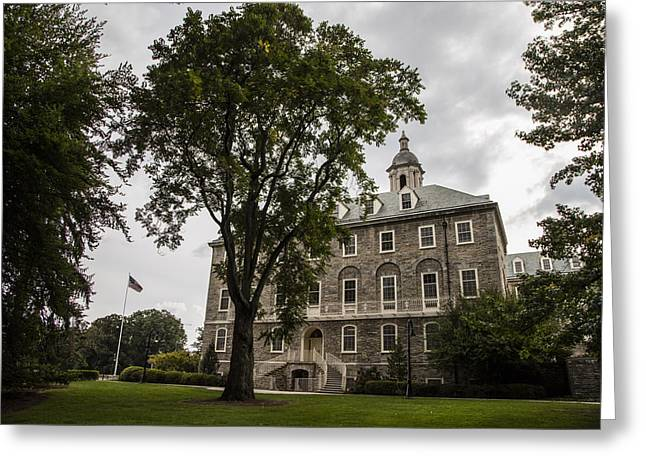 Penn State Old Main And Tree Greeting Card by John McGraw