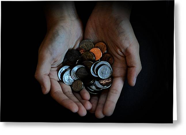 Coins Greeting Cards - Pennies Greeting Card by Starr Sandoval