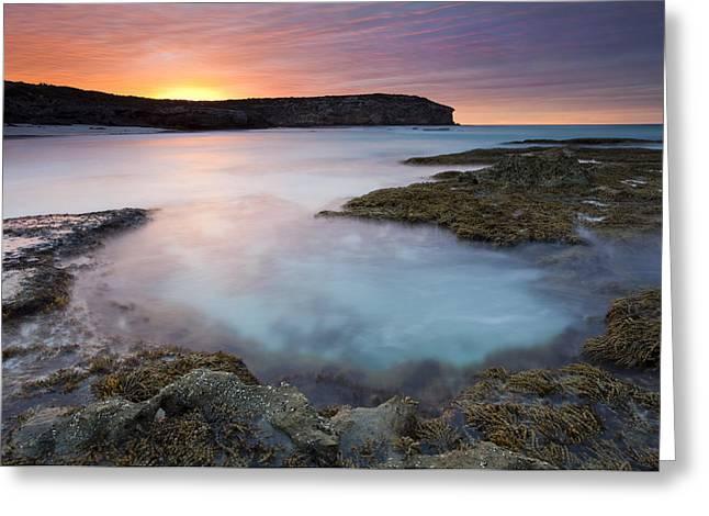 Pennington Bay Greeting Cards - Pennington Dawn Greeting Card by Mike  Dawson