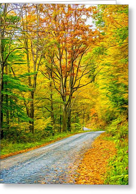 Pennsylvania Back Road - Paint Greeting Card by Steve Harrington