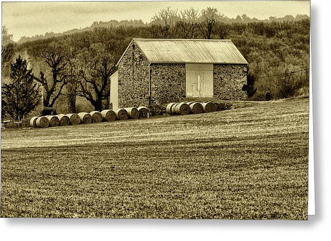 Farmers Field Greeting Cards - Pennsylvania Barn Greeting Card by Bill Cannon