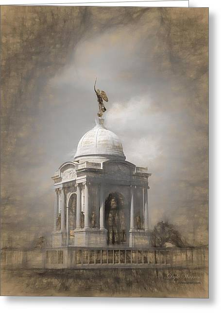 Civil Greeting Cards - Pennsylvania Memorial - Gettysburg Greeting Card by Dyle Warren
