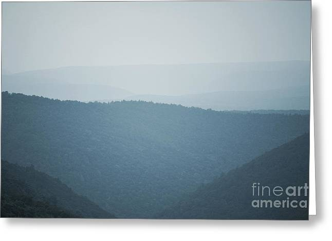 Print Photographs Greeting Cards - Pennsylvania Mountain Valley Trees Greeting Card by Andrea Hazel Ihlefeld