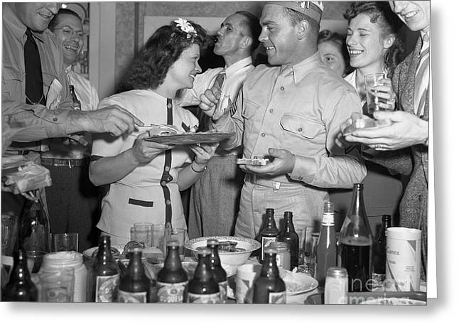 Serviceman Greeting Cards - Pennsylvania: Party, 1942 Greeting Card by Granger
