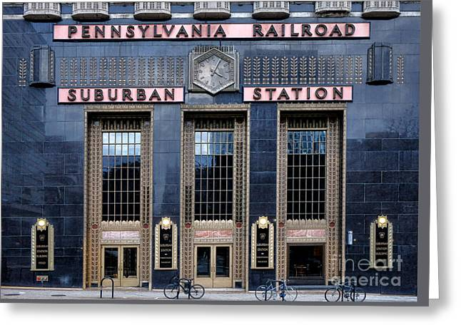 Pennsylvania Railroad Suburban Station Greeting Card by Olivier Le Queinec