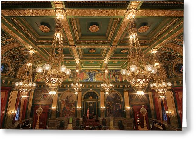 Pennsylvania Senate Chamber Greeting Card by Shelley Neff