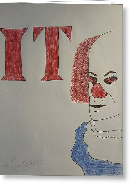 Pennywise Greeting Cards - Pennywise The Clown Greeting Card by Larry Lefler