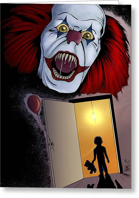 Pennywise Greeting Cards - Pennywsie Greeting Card by Matt James