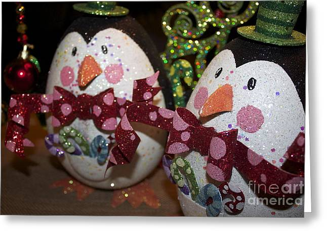 Christmas Greeting Greeting Cards - Penquin Party Greeting Card by Terri Thompson