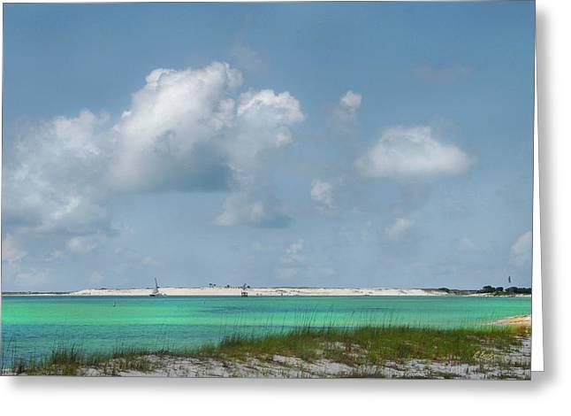 Florida Panhandle Greeting Cards - Pensacola Bay Greeting Card by Gordon Beck
