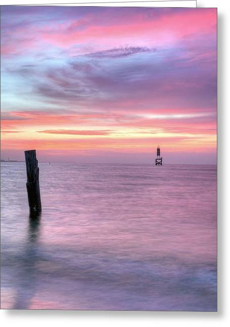 Surises Greeting Cards - Pensacola Pass Greeting Card by JC Findley