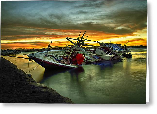 Boat Jewelry Greeting Cards - Pensione Greeting Card by Sudirmanto Muchtar