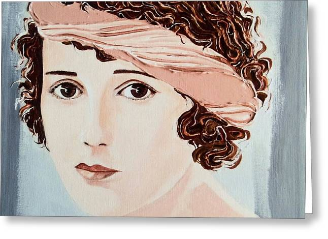 Pensive Greeting Cards - Pensive Gaze Greeting Card by Barbara Chase