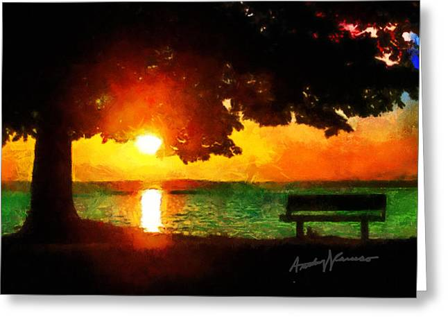 Pensive Digital Greeting Cards - Pensive Place Greeting Card by Anthony Caruso