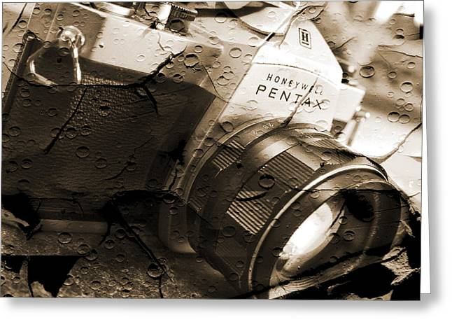 Vintage Camera Greeting Cards - Pentax Spotmatic II Greeting Card by Mike McGlothlen