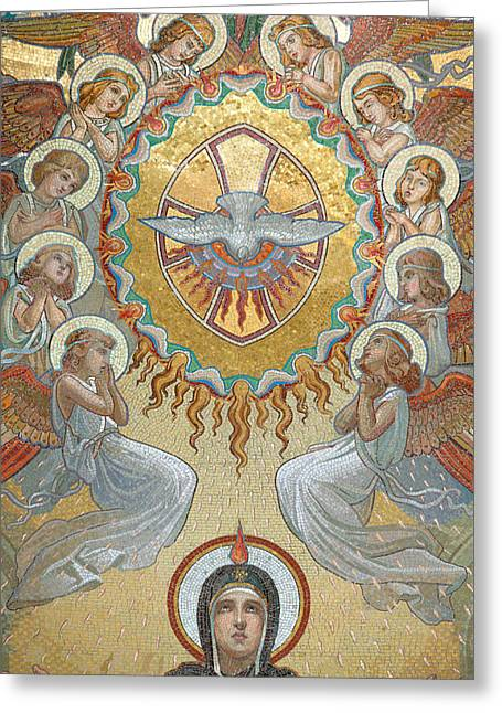 Religious Art Greeting Cards - Pentecost Greeting Card by Unknown