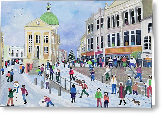 Wintry Greeting Cards - Penzance Greeting Card by Judy Joel