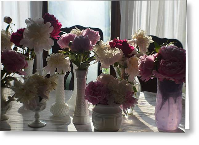 Abstract Digital Photographs Greeting Cards - Peonies 2015 4 Greeting Card by Tina M Wenger