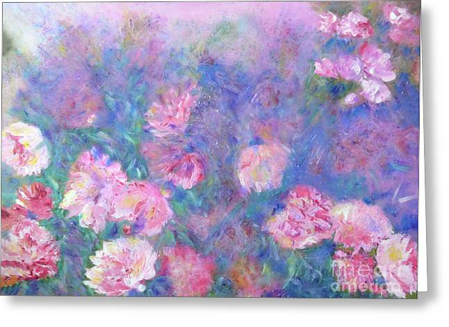 Claire Bull Greeting Cards - Peonies Greeting Card by Claire Bull