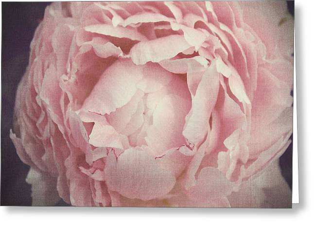 Peony Flower Greeting Card by Marianna Mills