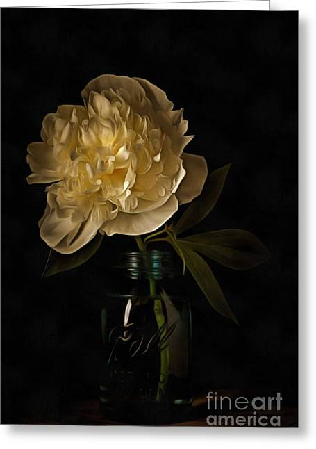 Old Masters Photographs Greeting Cards - Peony Old Masters Greeting Card by Edward Fielding