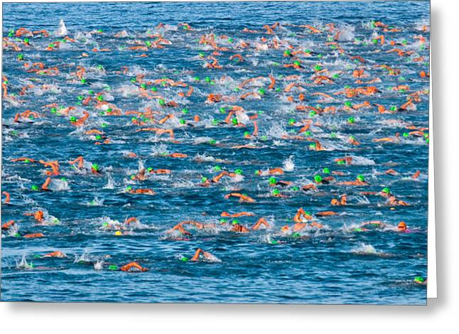 People Competing In The Ford Ironman Greeting Card by Panoramic Images