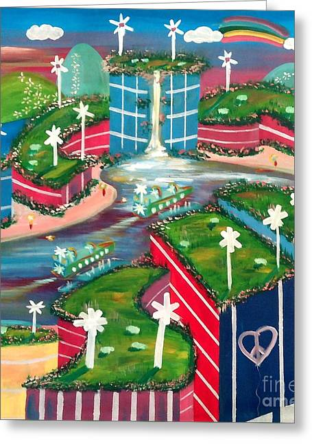 Pep Station Greeting Card by Jay Anthony Gonzales