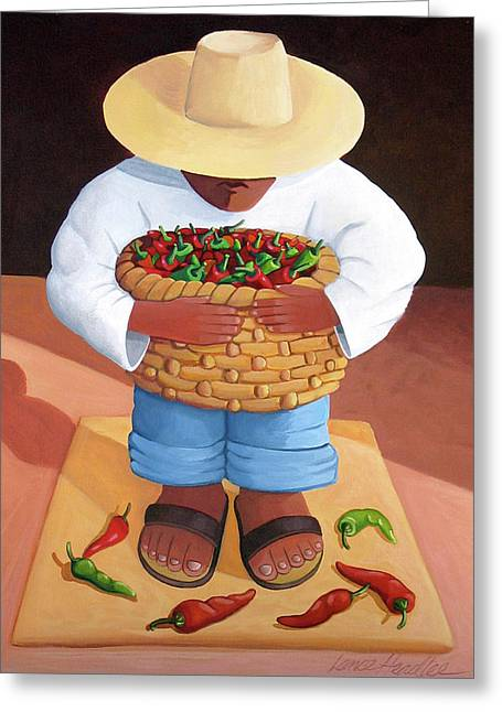 Western Abstract Greeting Cards - Pepper Boy Greeting Card by Lance Headlee