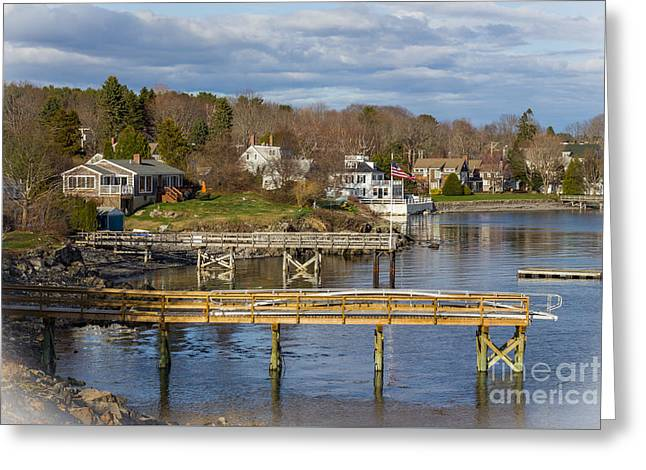 Maine Spring Greeting Cards - Pepperell Cove Greeting Card by Sean Hardies