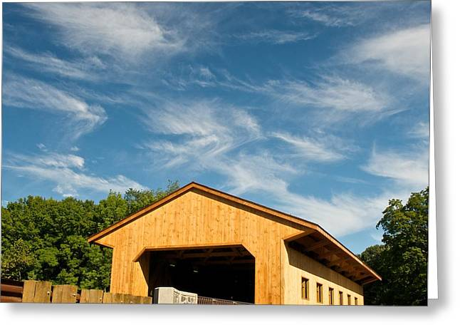 Covered Bridge Greeting Cards - Pepperell Covered Bridge Greeting Card by James Walsh