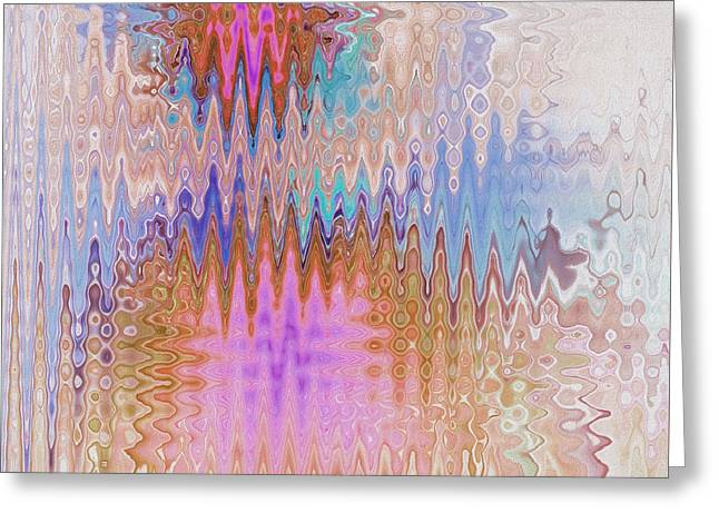 Geometric Art Greeting Cards - Peppermint Abstract Greeting Card by Deborah Benoit