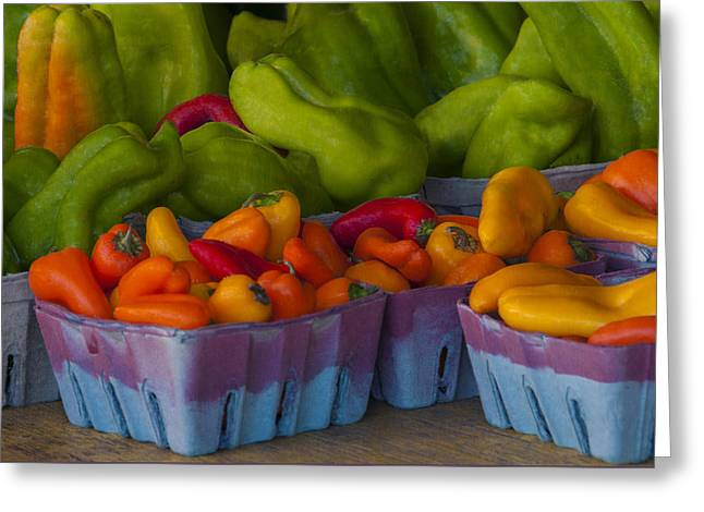 Peppers At The Produce Market Greeting Card by Mitch Spence