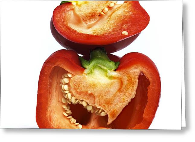 Peppers Greeting Card by Bernard Jaubert
