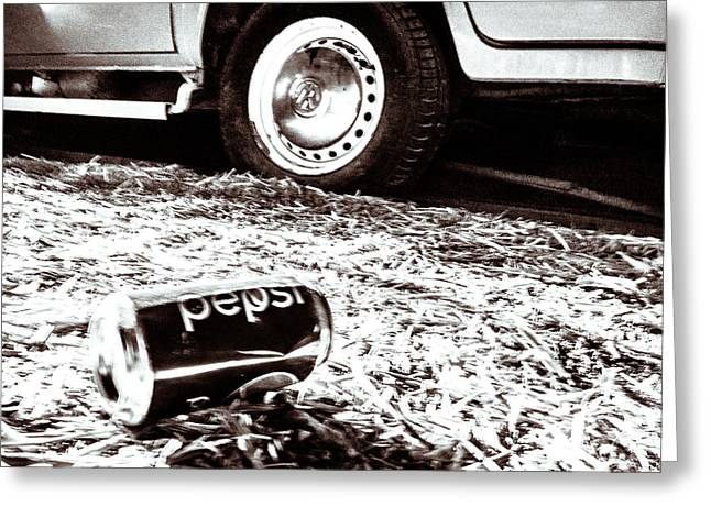 Pepsi Can Greeting Cards - Pepsi Greeting Card by Wade Brooks