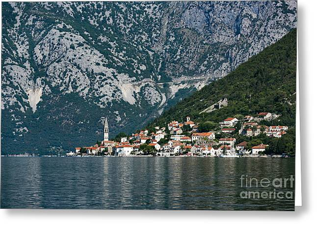 Charming Vistas Greeting Cards - Perast Montenegro Greeting Card by John Greim