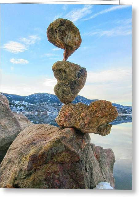 Perched Greeting Card by Douglas Case